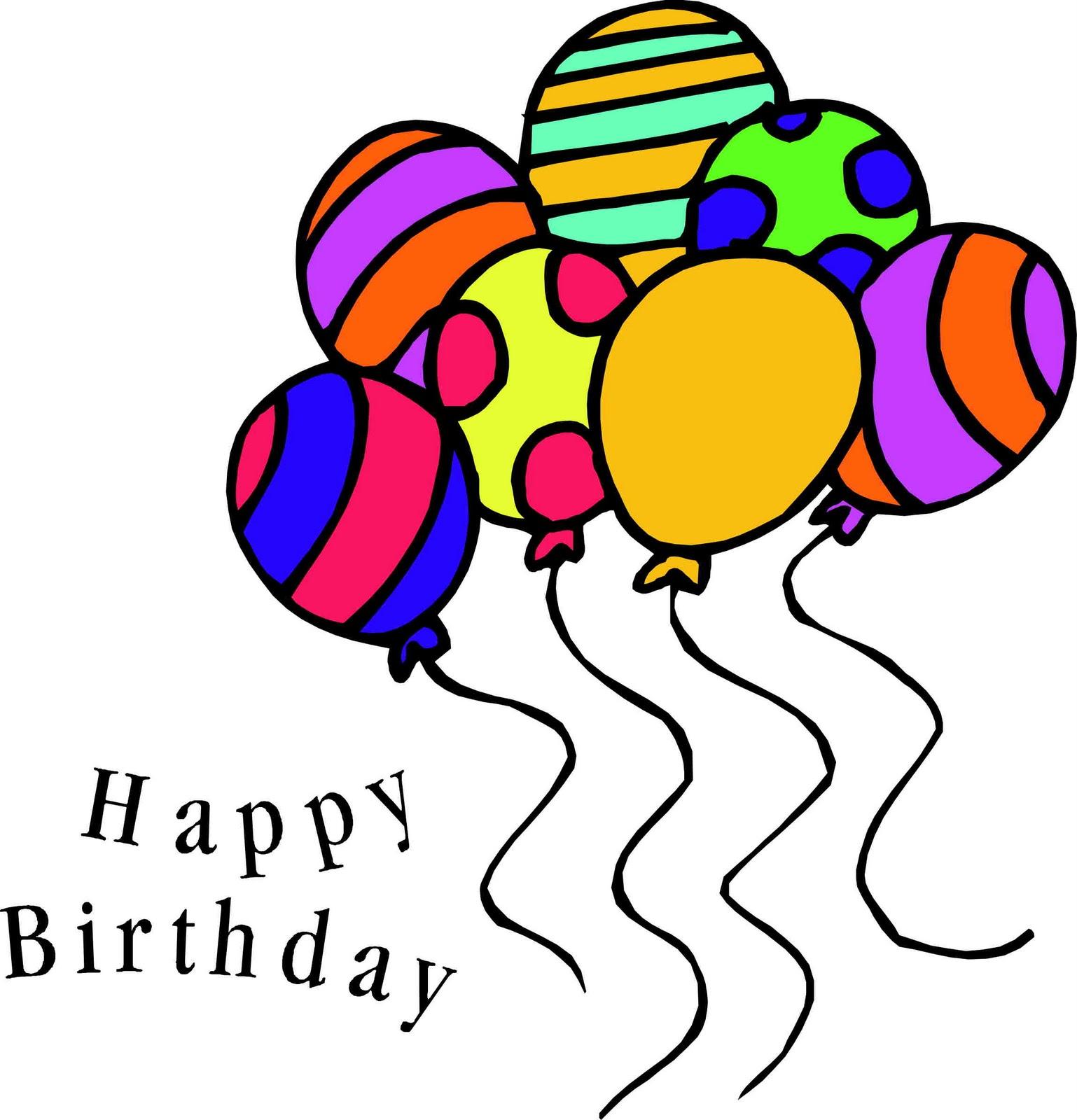 Happy birthday balloons clipartix. 7 clipart balloon