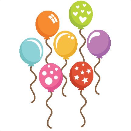 Assorted balloons svg cut. 7 clipart balloon