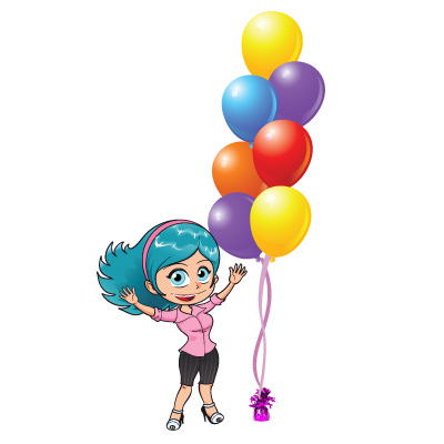 7 clipart balloon. Table and floor helium