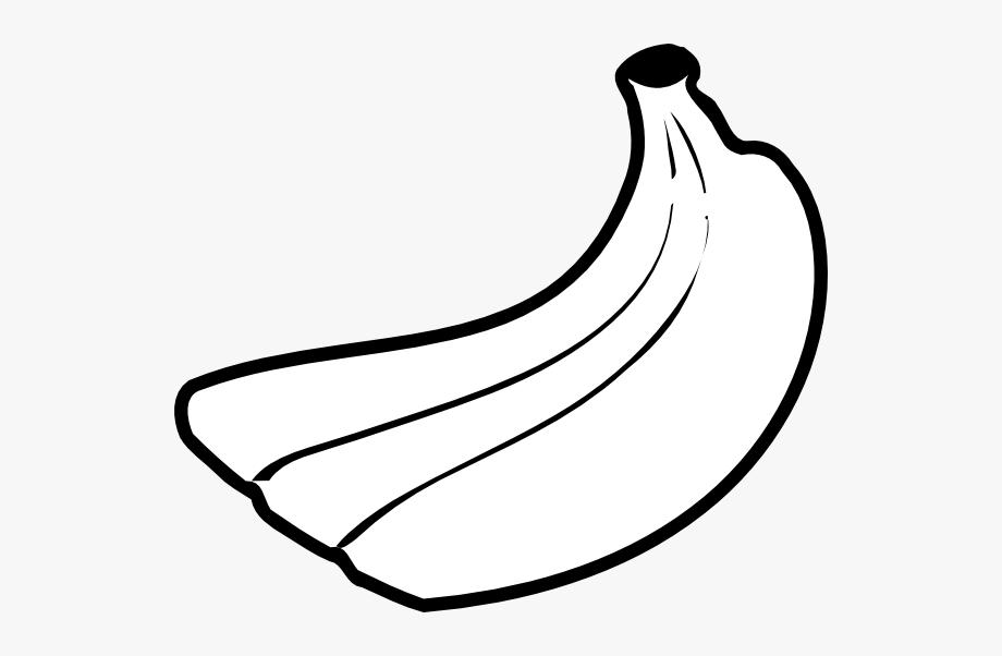 With shades transparent cartoon. Banana clipart outline