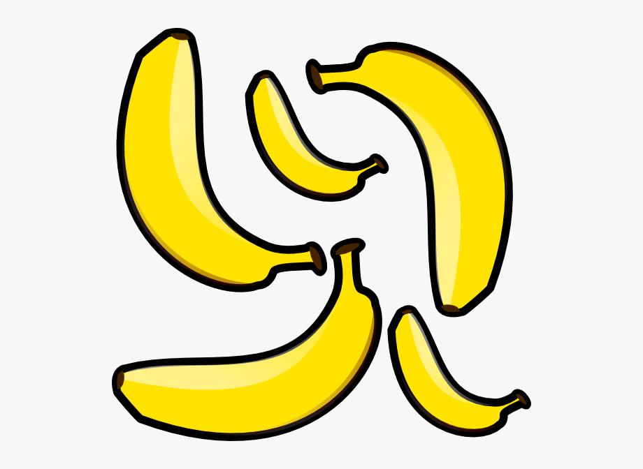 Bananas clipart small banana. Clip art transparent cartoon