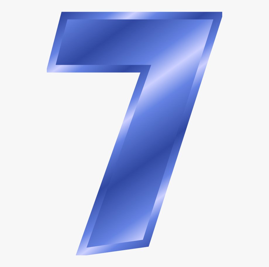 Number color free cliparts. 7 clipart blue