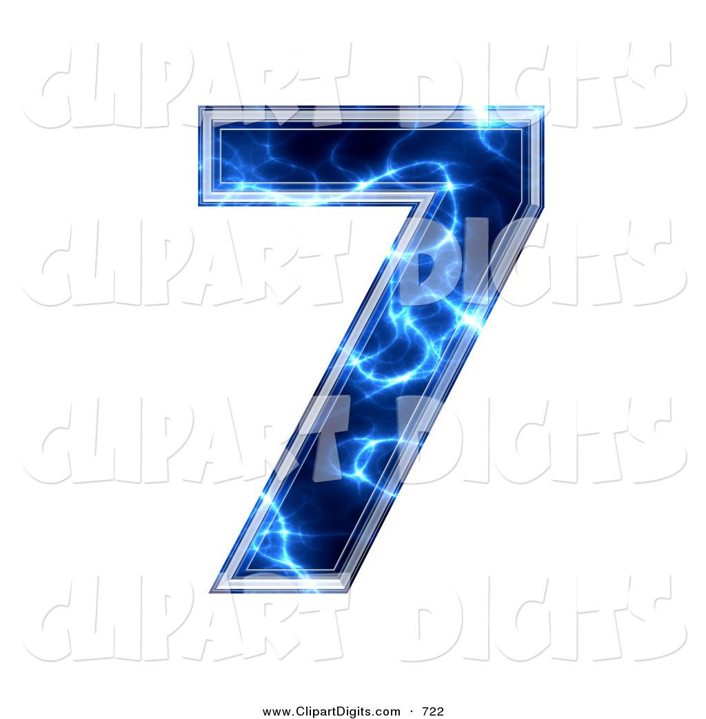7 clipart blue. Clip art of a