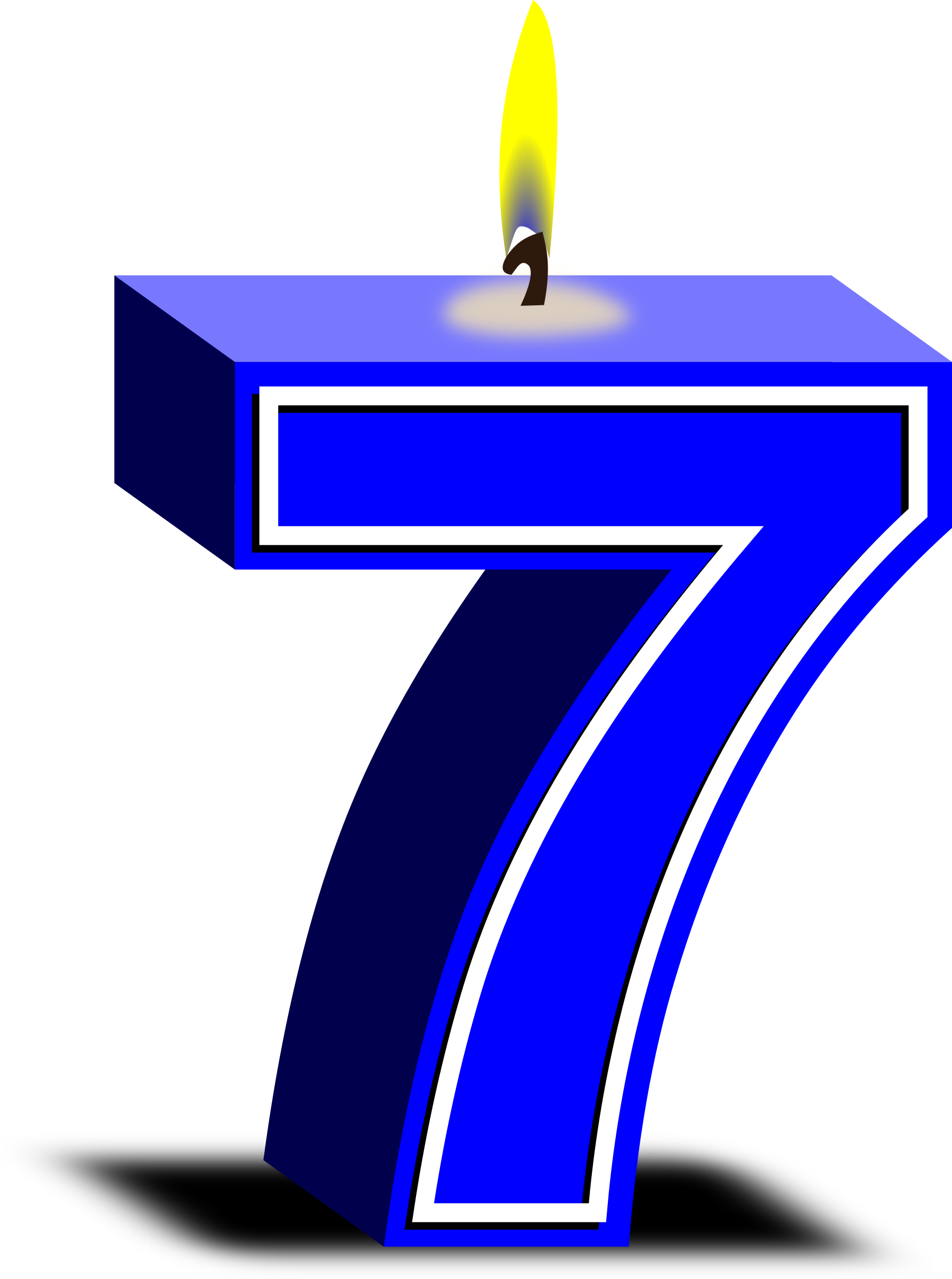 7 clipart blue. Birthday candle big image