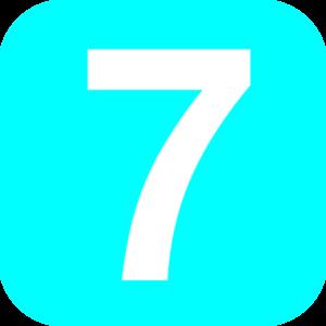 7 clipart blue. Number light clip art