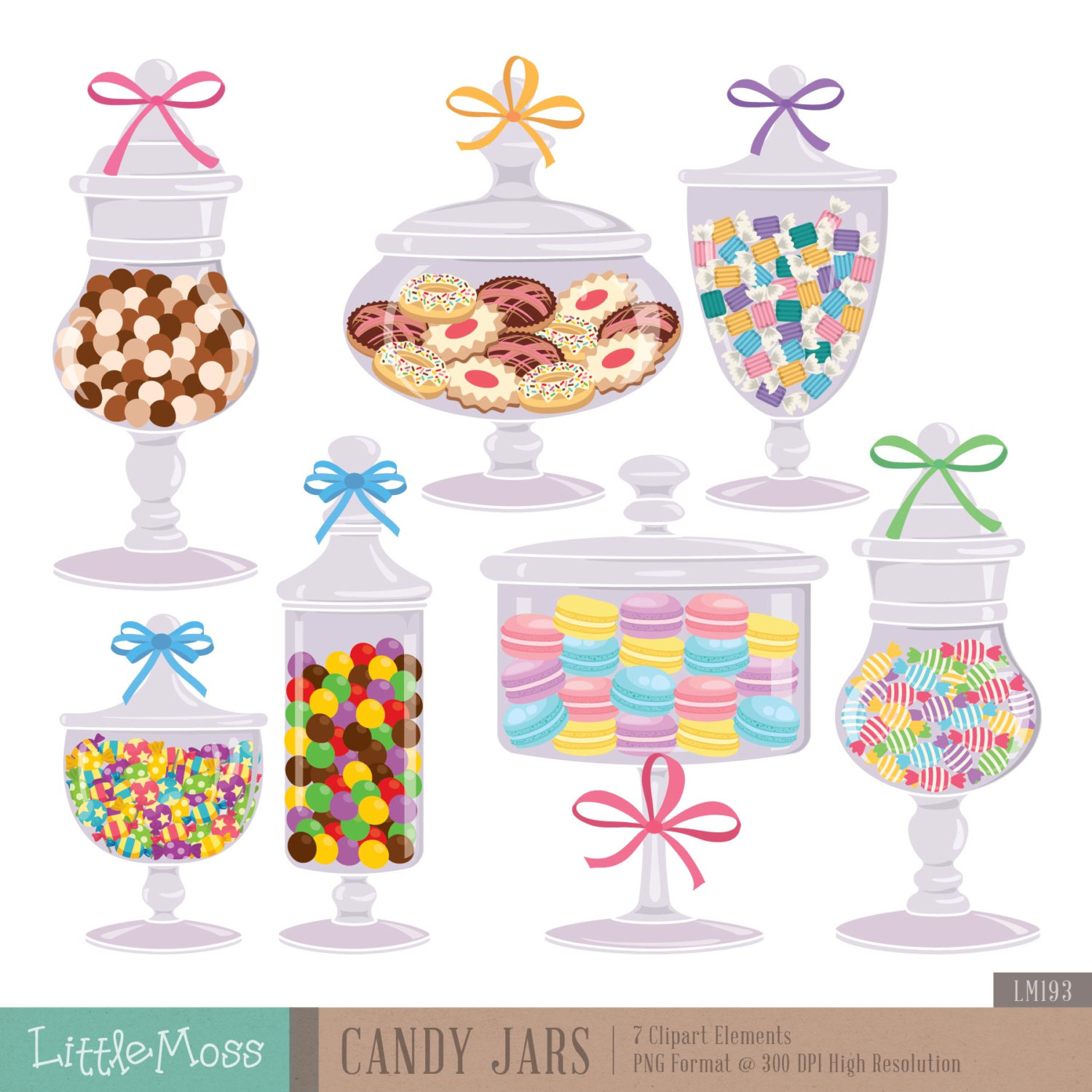 Candy Jars Digital Clipart Cookie Jar Clipart
