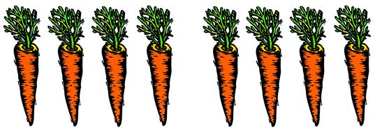 7 clipart carrot. Addition for toddlers visual