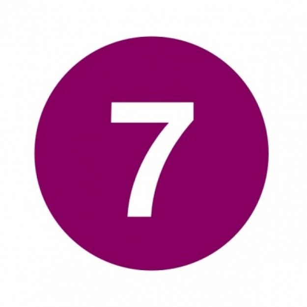 Number purple clip panda. 7 clipart circle