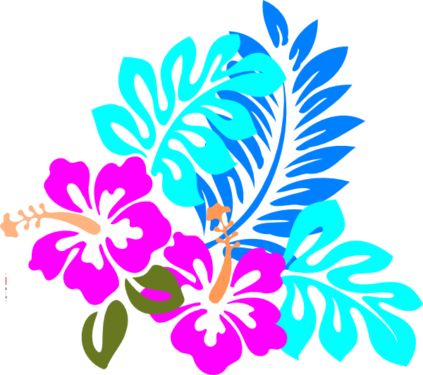 Hawaiian clipart hawaiian floral. Colorful flower clip art