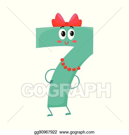 Eps vector and funny. 7 clipart cute