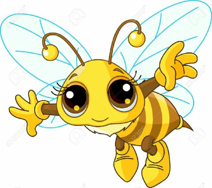 7 clipart cute.  best bees images