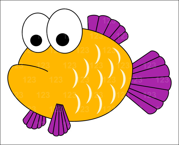 7 clipart cute. Fish station