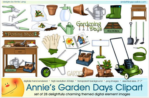 7 clipart days. Garden annie things possible