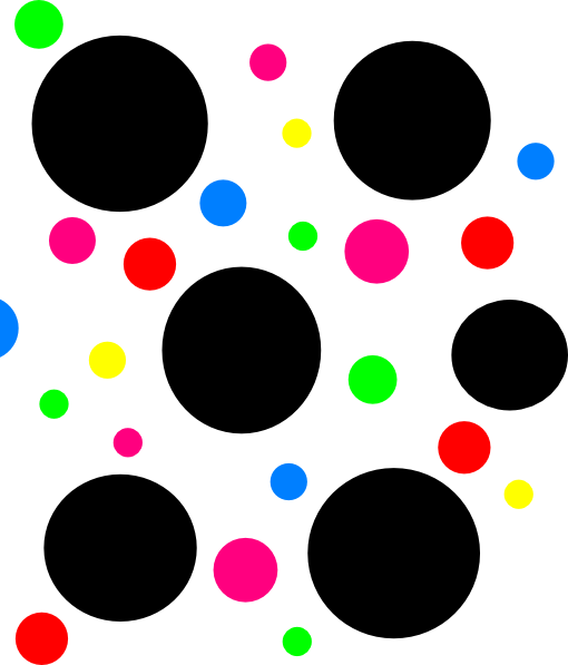 7 clipart dot. Light blue polka dots