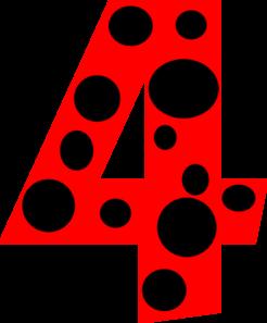 Number dots clip art. 4 clipart