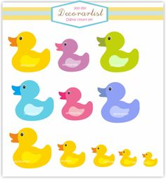 Rubber scrapbooking and clip. 7 clipart duck