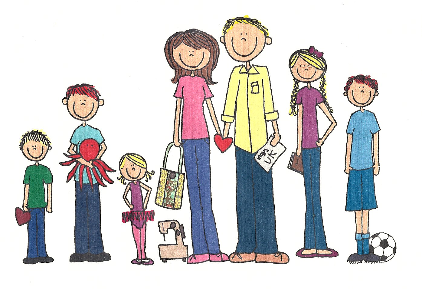 collection of seven. 7 clipart family