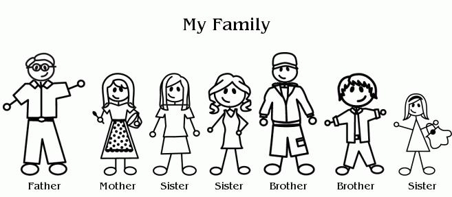 7 clipart family.  collection of high