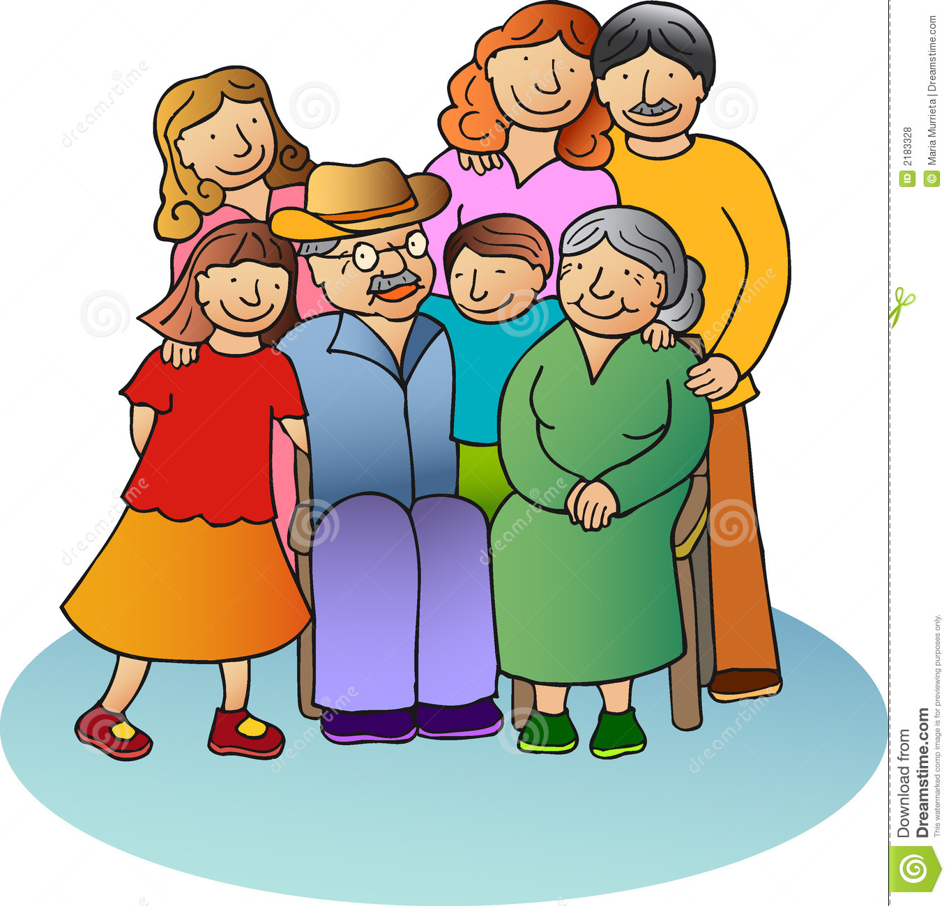 7 clipart family. People daughters station