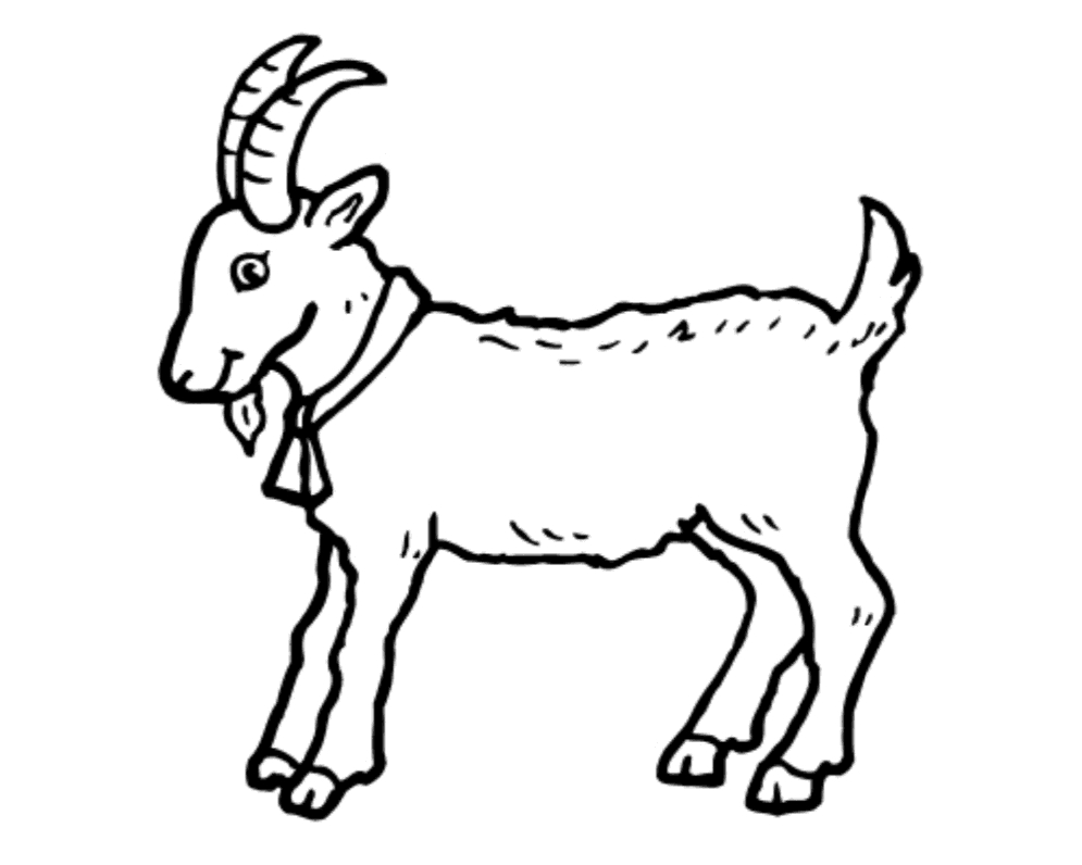 Best of black and. 7 clipart goat