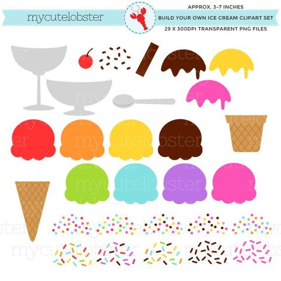 Cream set build your. 7 clipart ice creams