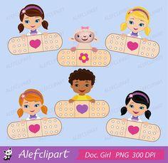 Doctor kids cute digital. 7 clipart item