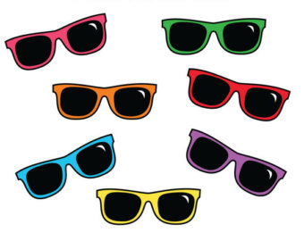 Clipart sunglasses colored. Free image of download