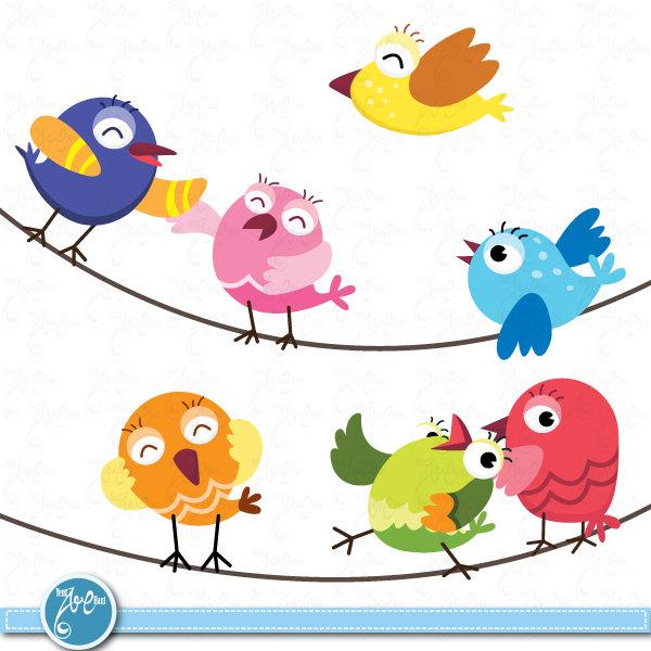 7 clipart item. Birds clip art cute