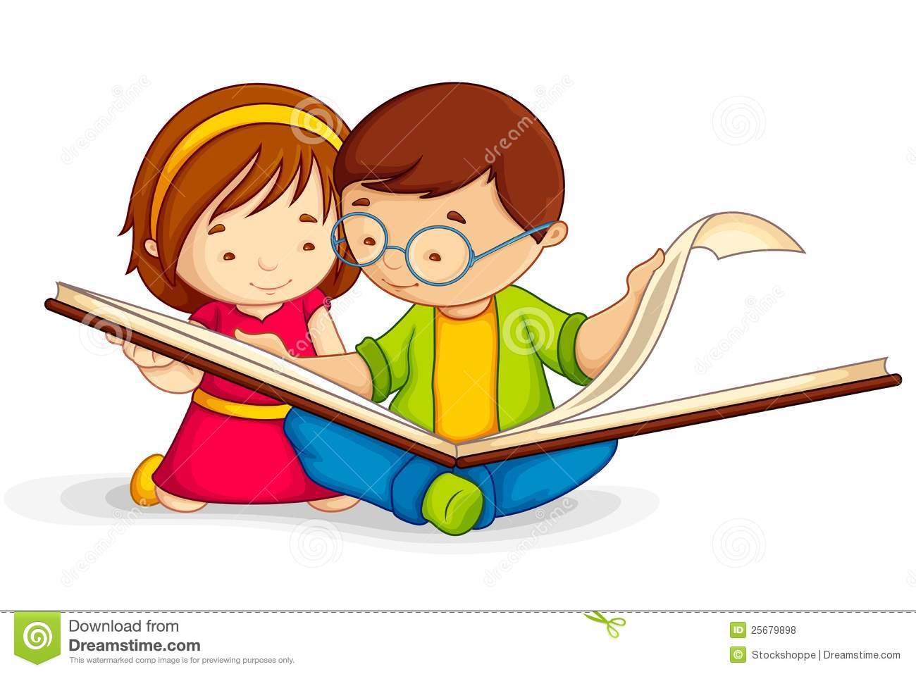 Kids with books children. 7 clipart kid