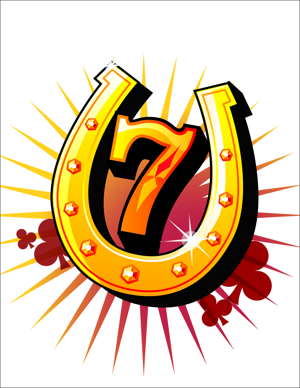 collection of high. 7 clipart lucky