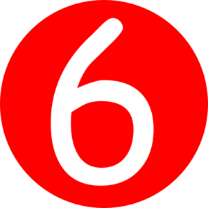 Red rounded with clip. 7 clipart number 6