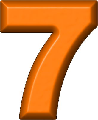 best letters and. 7 clipart numeral