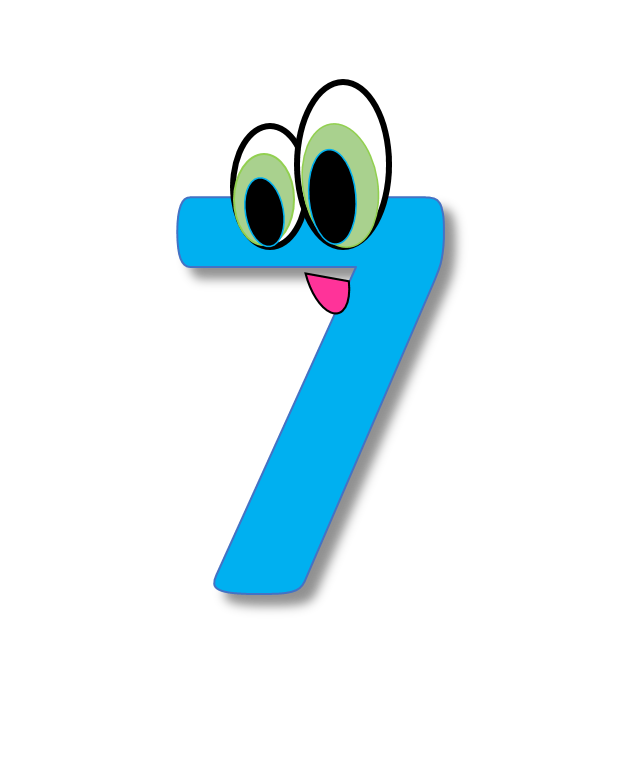 7 clipart numeral.  affordable with great