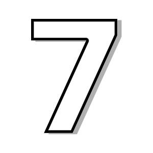 7 clipart numeral. Number seven clipartfest pinterest