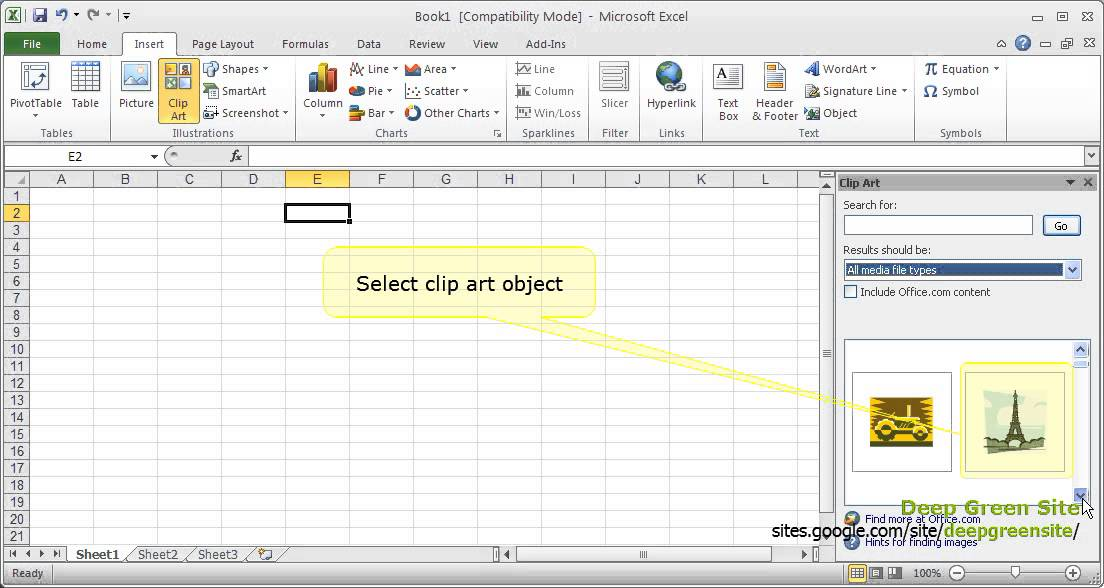 7 clipart object. Ms excel how to