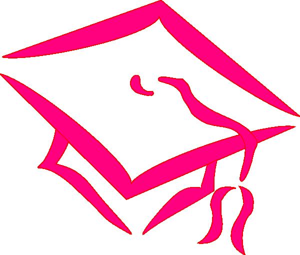 7 clipart pink. Graduation cap clip art