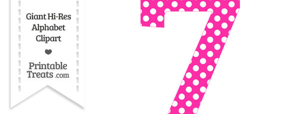 Number . 7 clipart pink