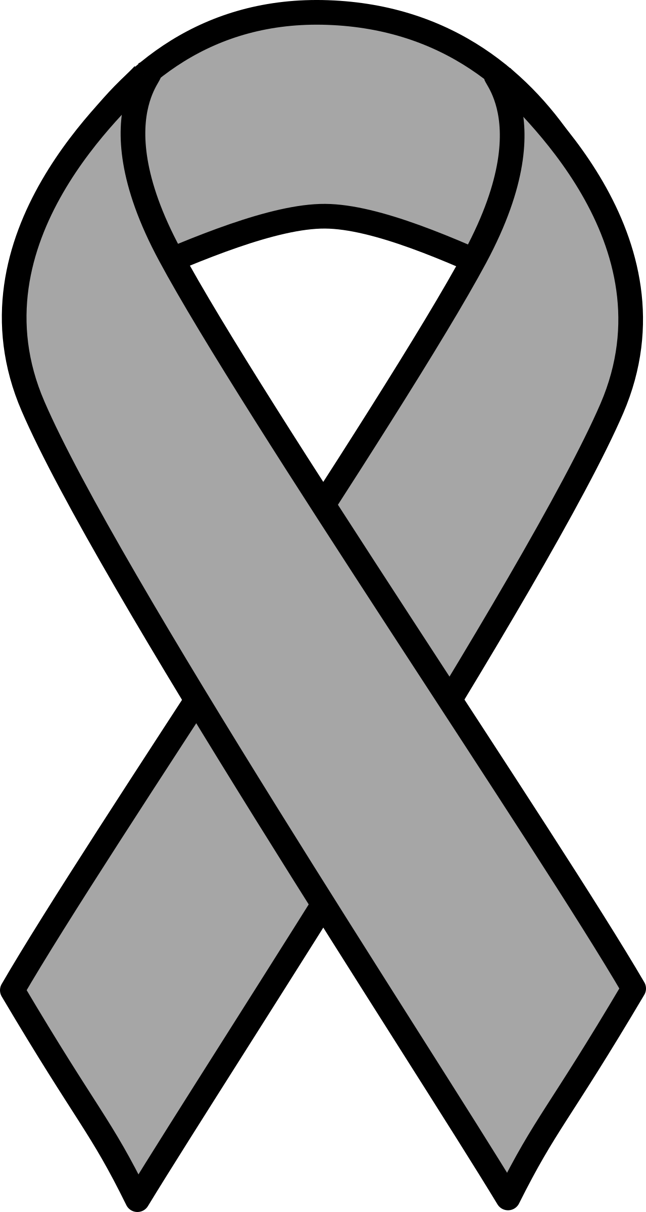 7 clipart ribbon. Grey brain cancer big