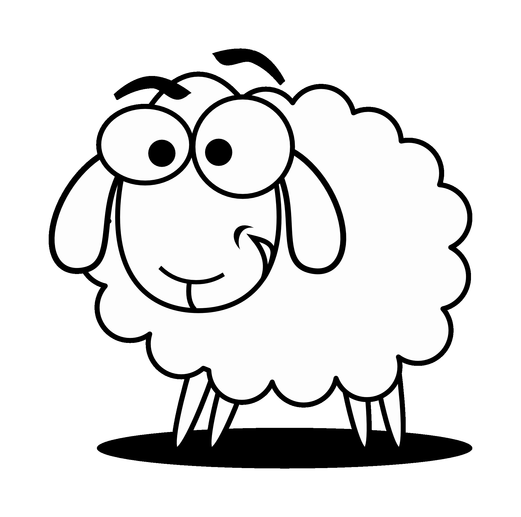 inspirational black and. 7 clipart sheep