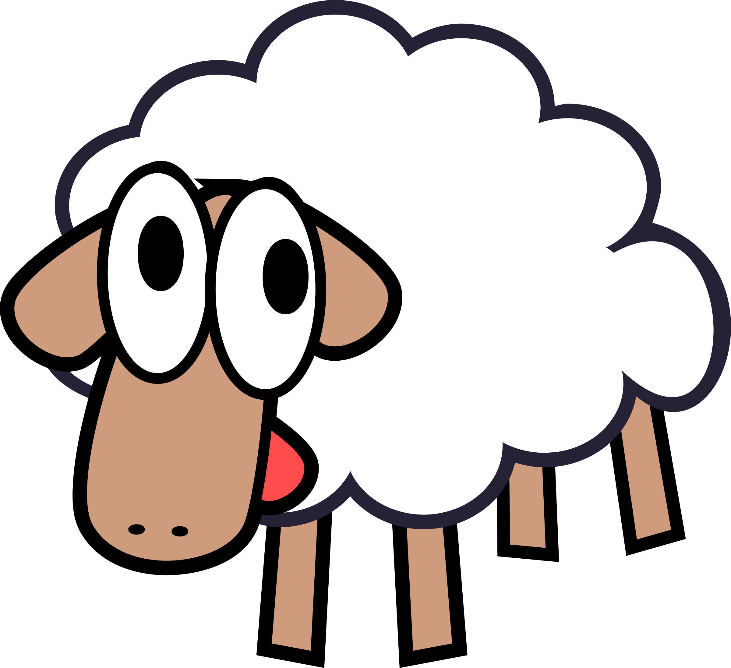 White stupid cute cartoon. Gate clipart sheep