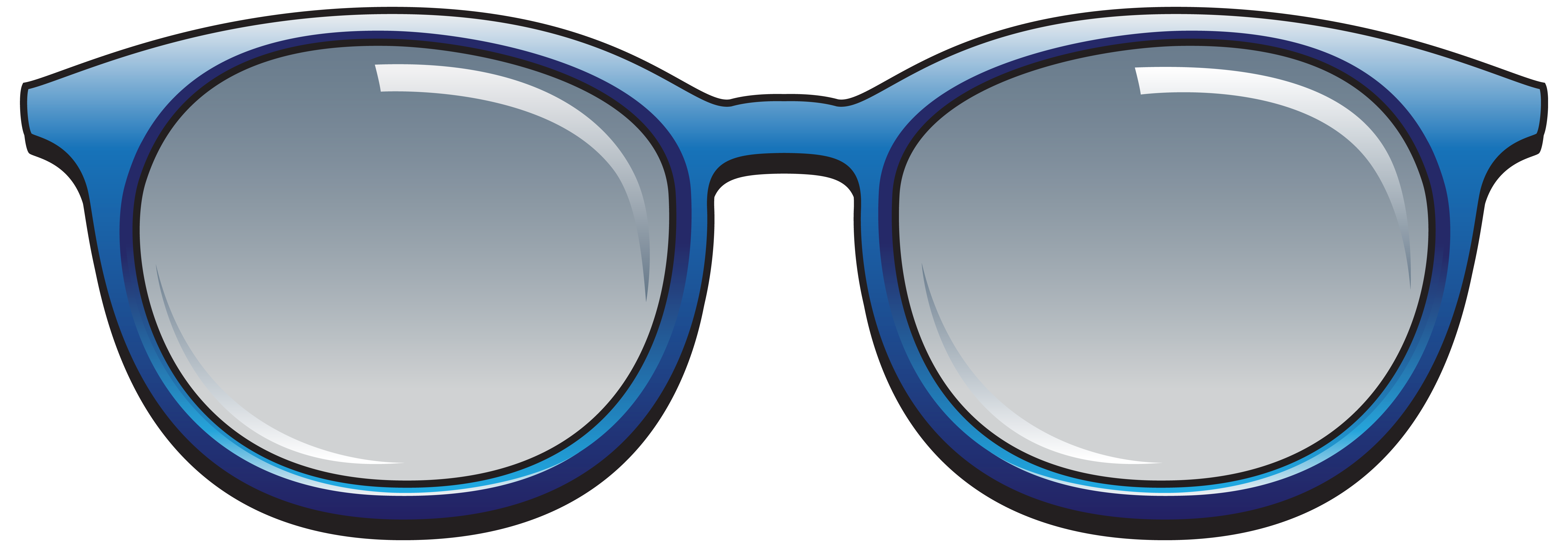 Blue png image gallery. Clipart sunglasses line art