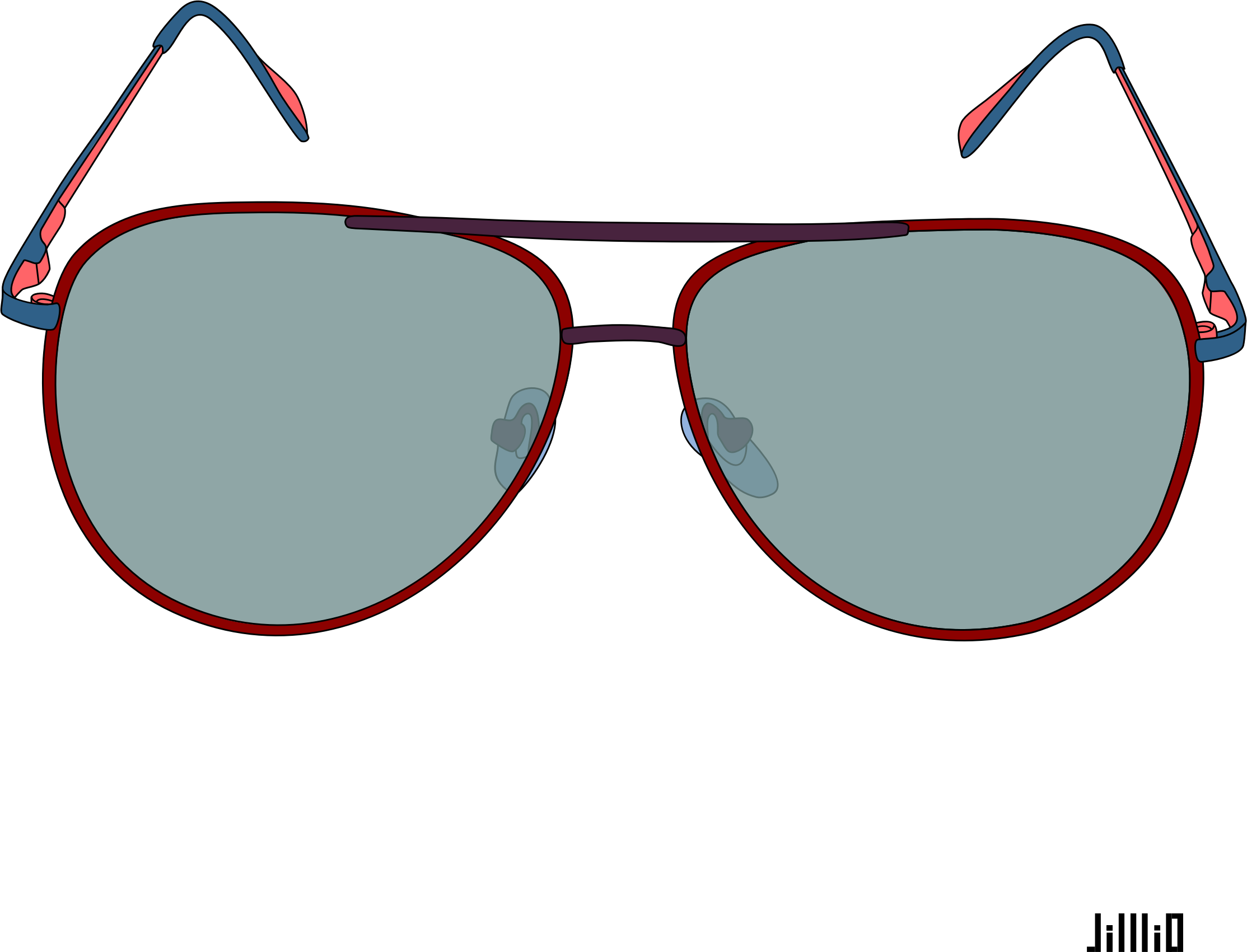 Glasses clipart glass frame. Color sunglasses big image