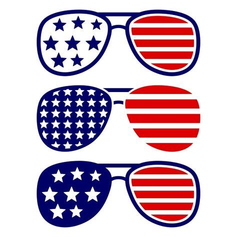 Pin by kayla mull. Clipart sunglasses red white blue
