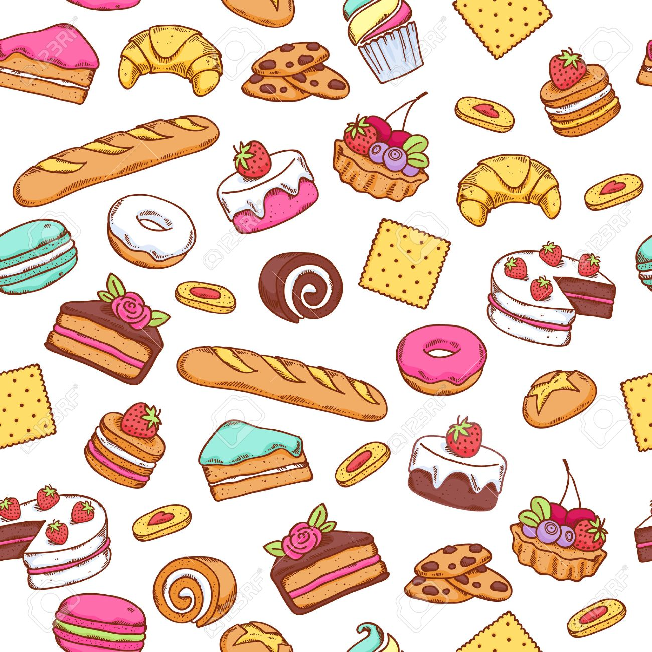 7 clipart sweet. Food station