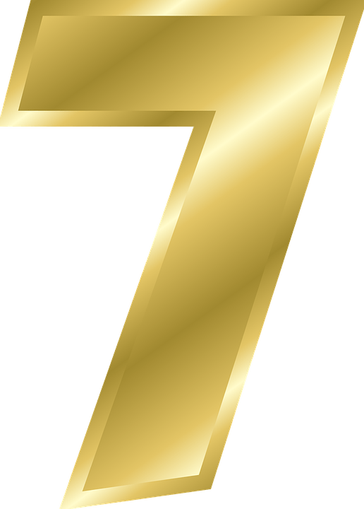 Gold number png stickpng. 7 clipart transparent