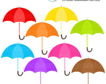 Umbrella clipart rainbow umbrella
