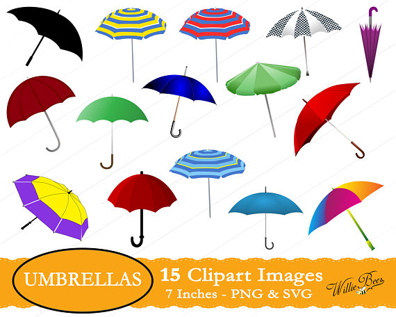 Svg images umbrellas rain. 7 clipart umbrella