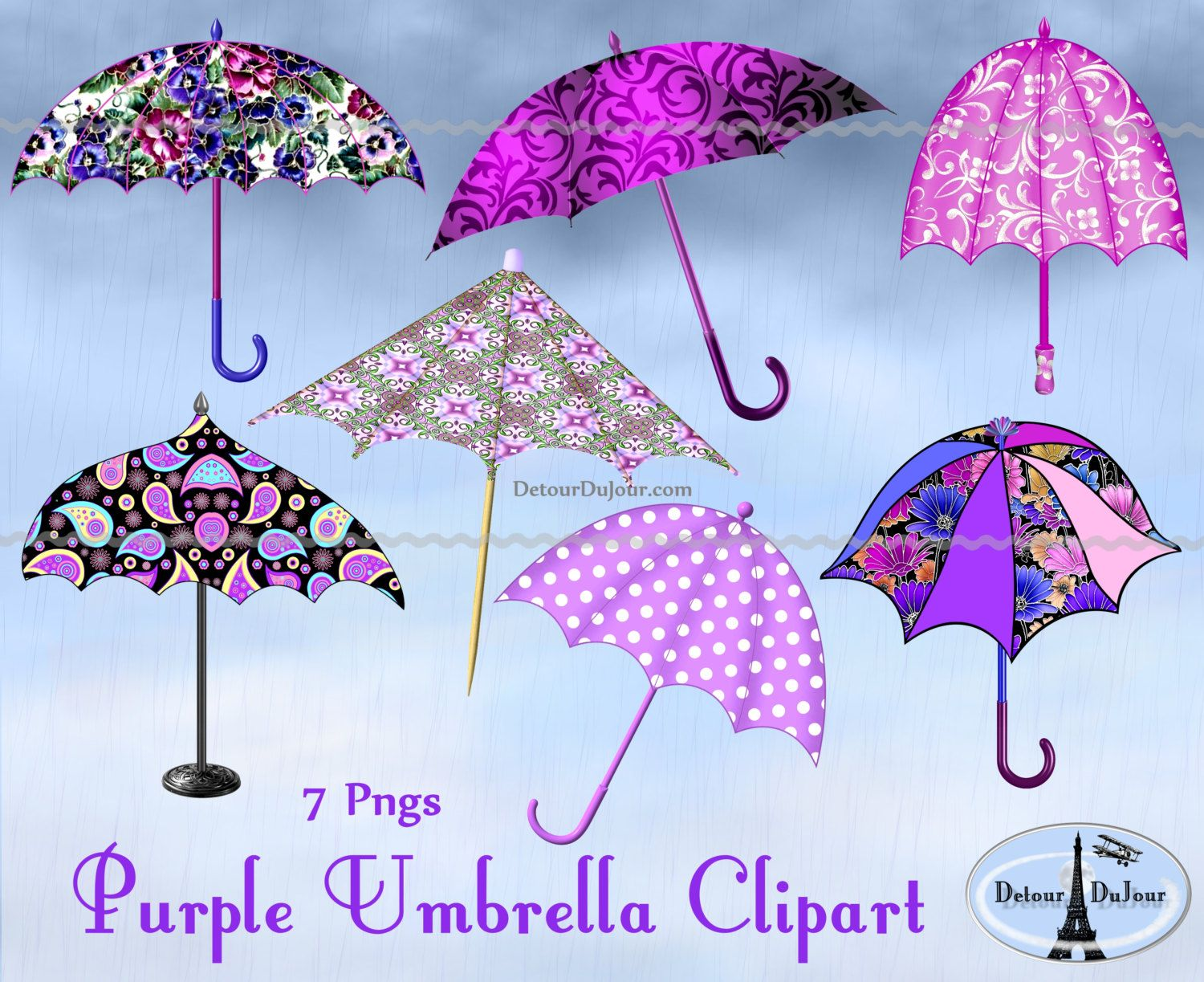 Parasol purple umbrellas digital. 7 clipart umbrella
