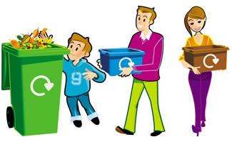 Waste segregation station . 7 clipart wast