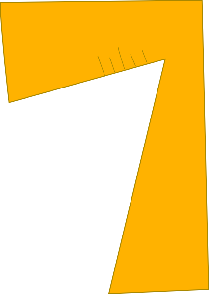 Number clip art at. 7 clipart yellow